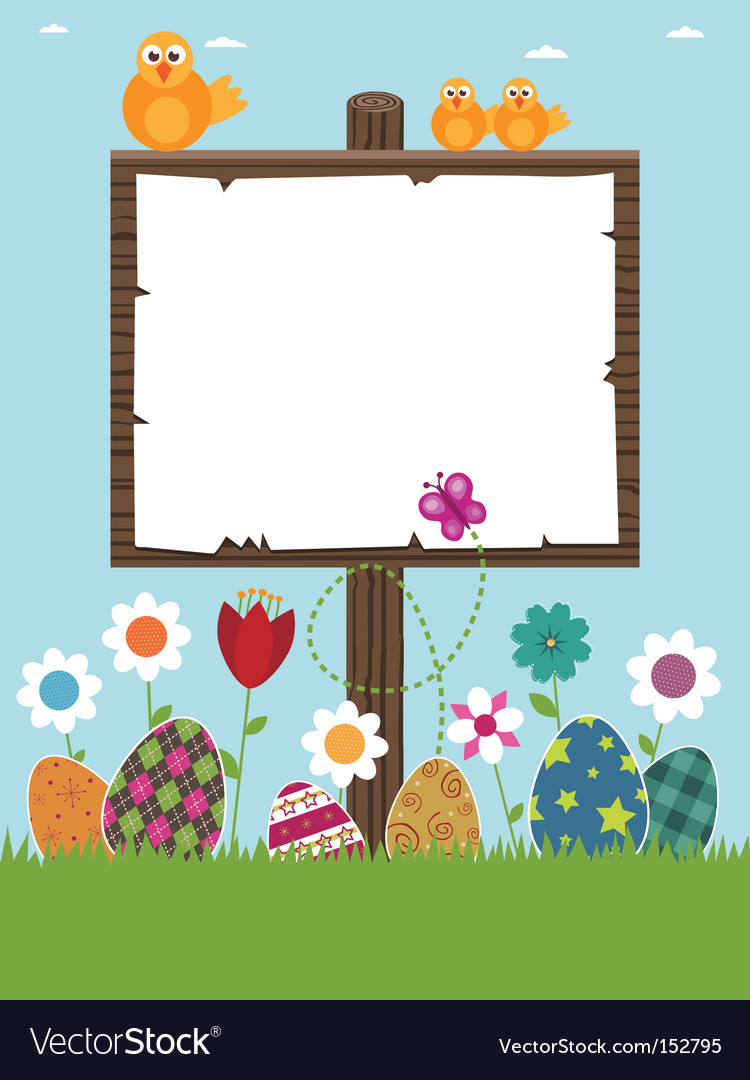 Easter sign post vector