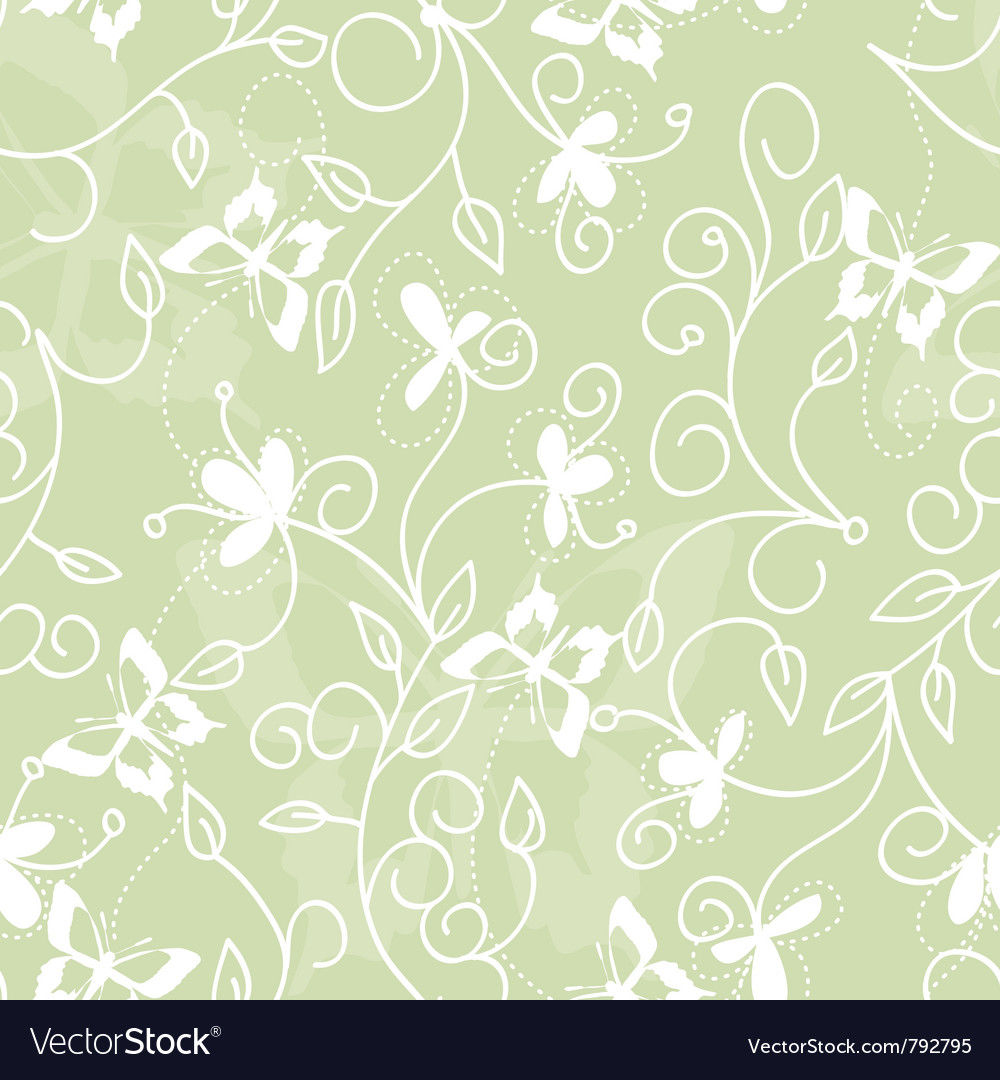 Floral pattern with butterflies vector | Price: 1 Credit (USD $1)