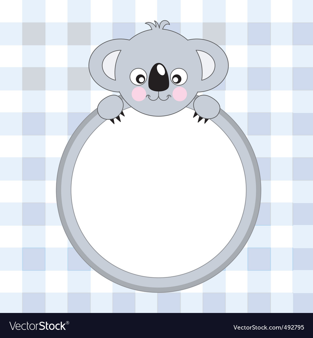 Koala frame vector | Price: 1 Credit (USD $1)
