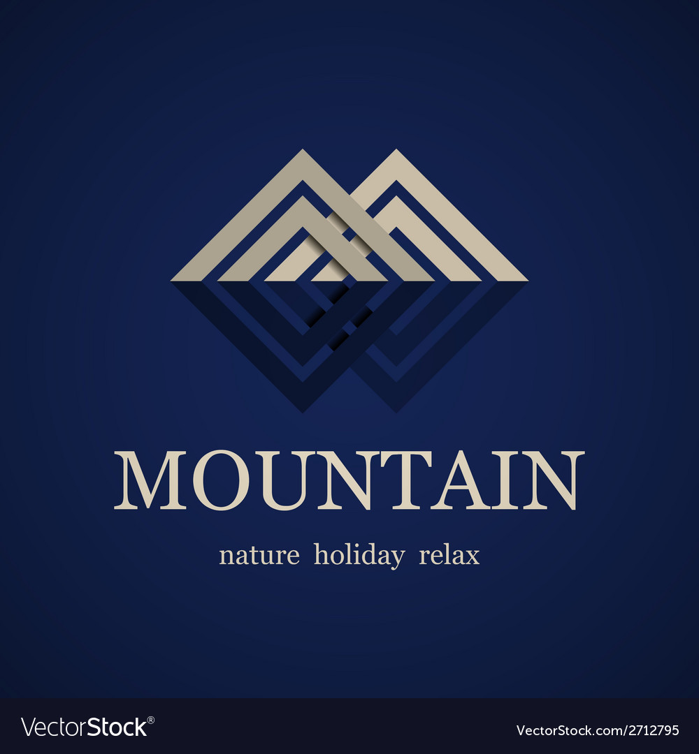 Mountain symbol design template vector
