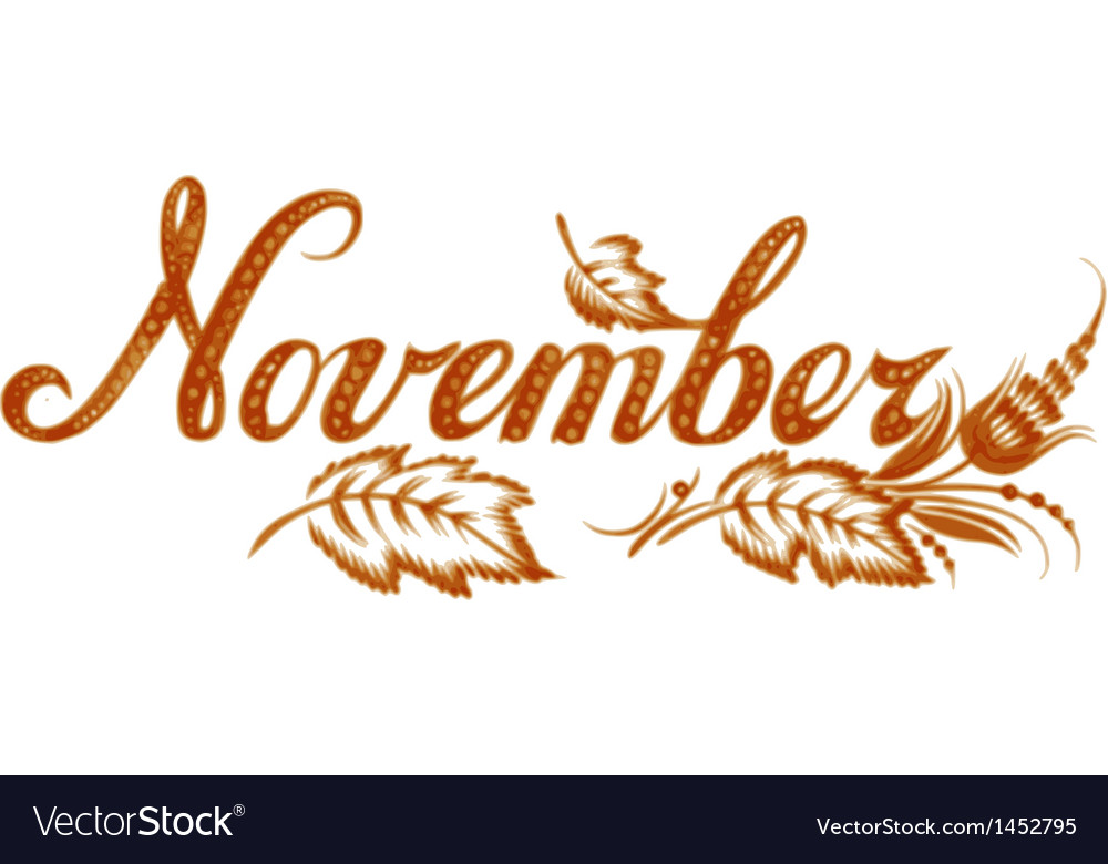 November the name of the month vector | Price: 1 Credit (USD $1)