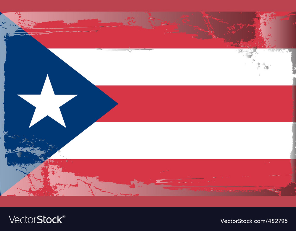 Puerto rico national flag vector | Price: 1 Credit (USD $1)