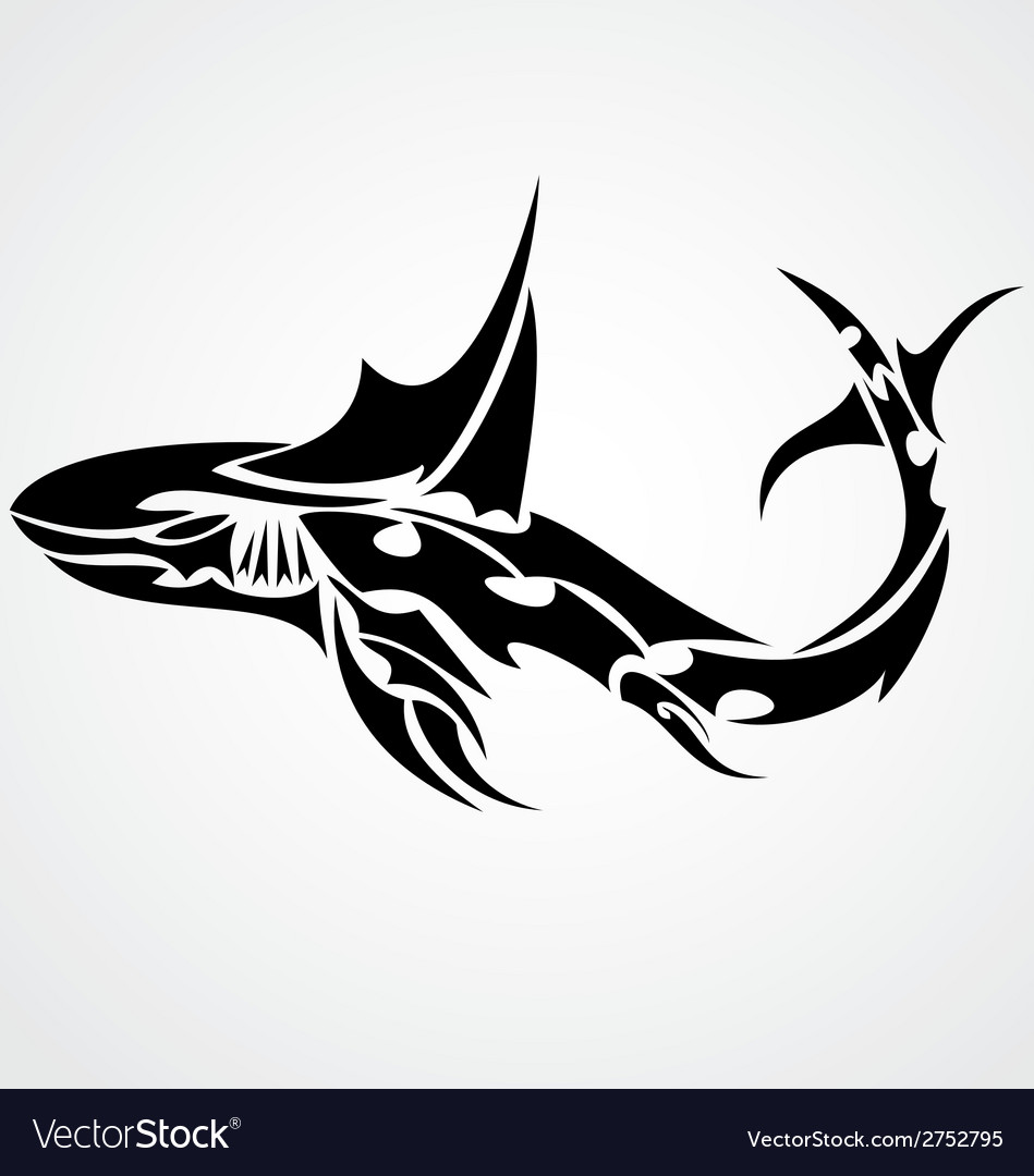 Shark tattoo design vector   Price: 1 Credit (USD $1)