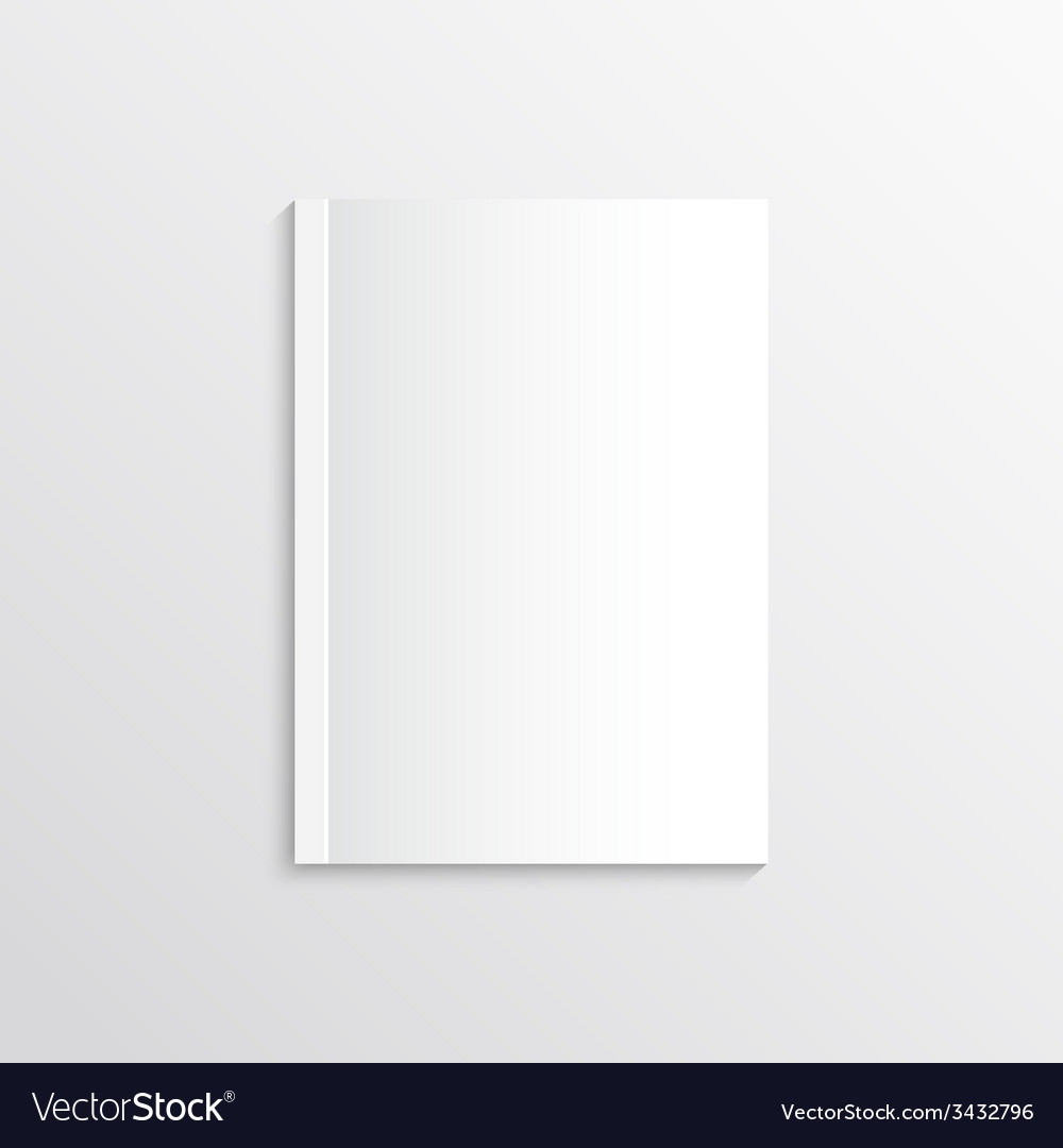 Blank sheet of paper magazine covers postcards vector | Price: 1 Credit (USD $1)
