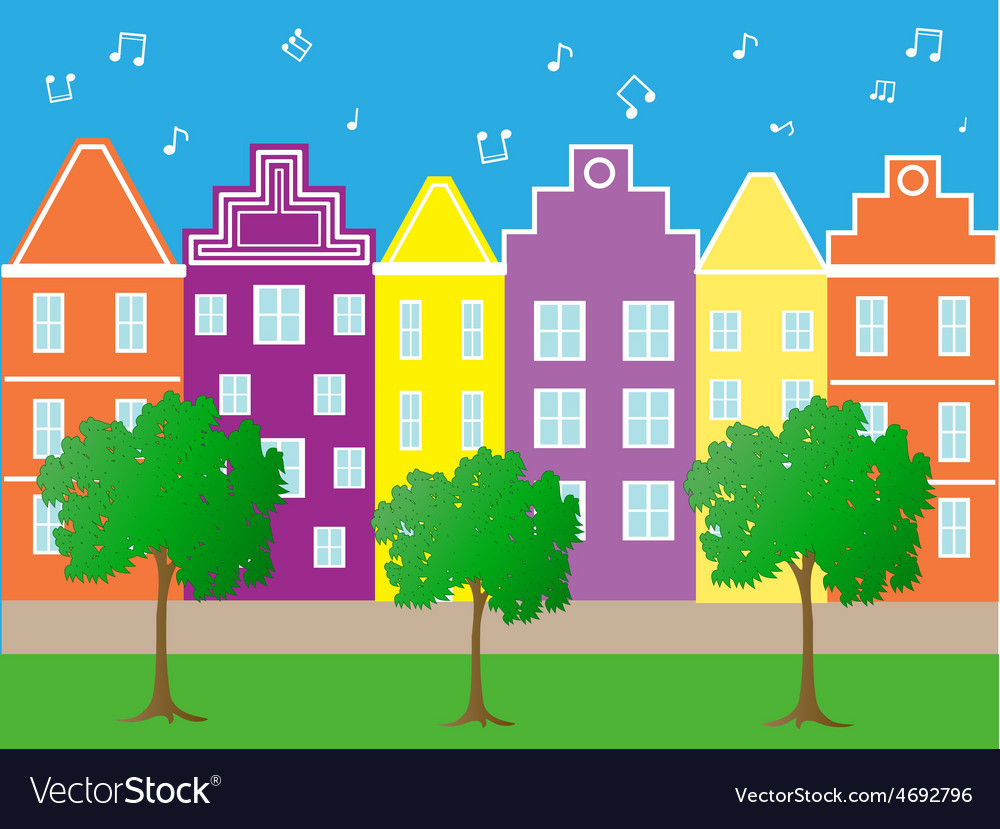 Bright city vector | Price: 1 Credit (USD $1)