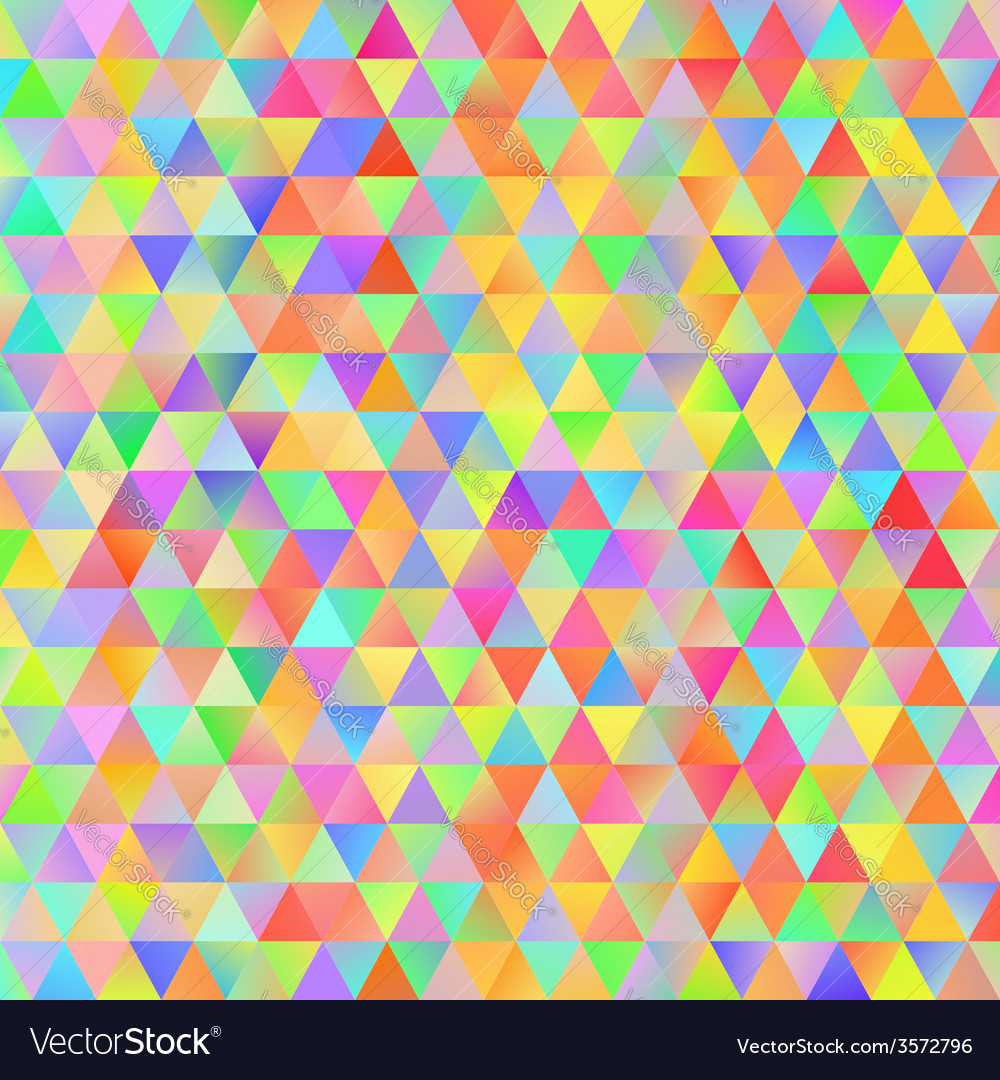 Colorful pattern with chaotic triangles vector | Price: 1 Credit (USD $1)