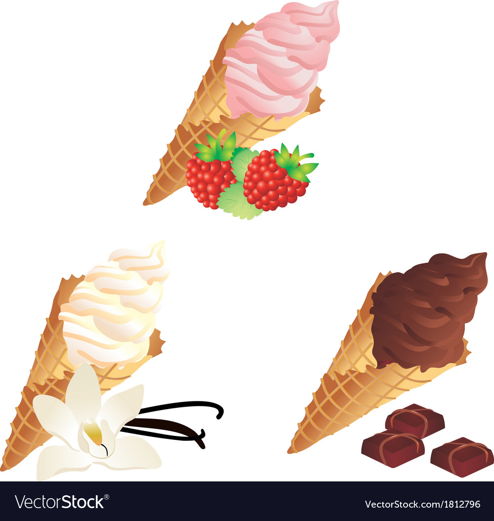 Different sorts of ice cream vector | Price: 1 Credit (USD $1)