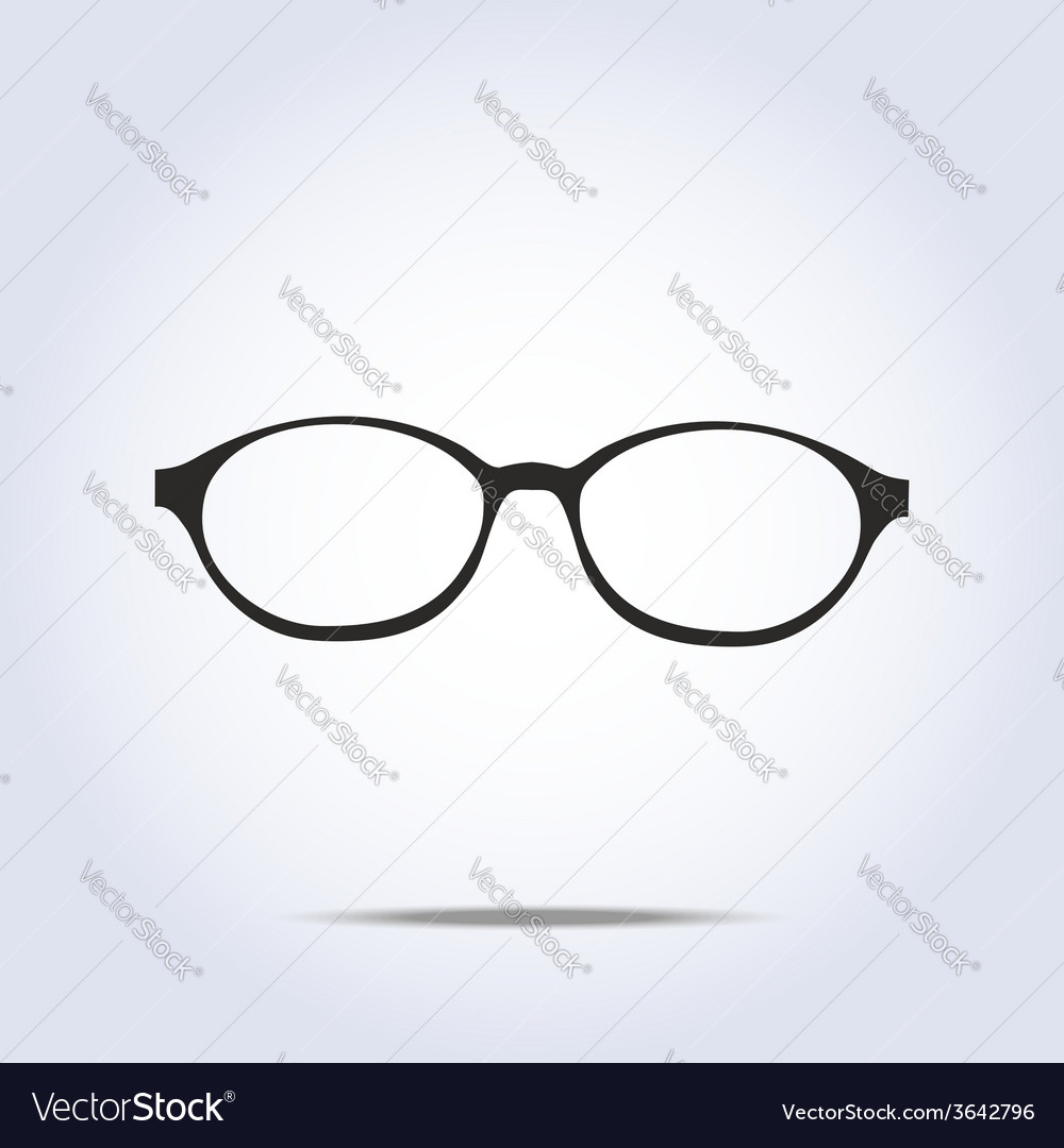 Glasses icon on gray background vector | Price: 1 Credit (USD $1)