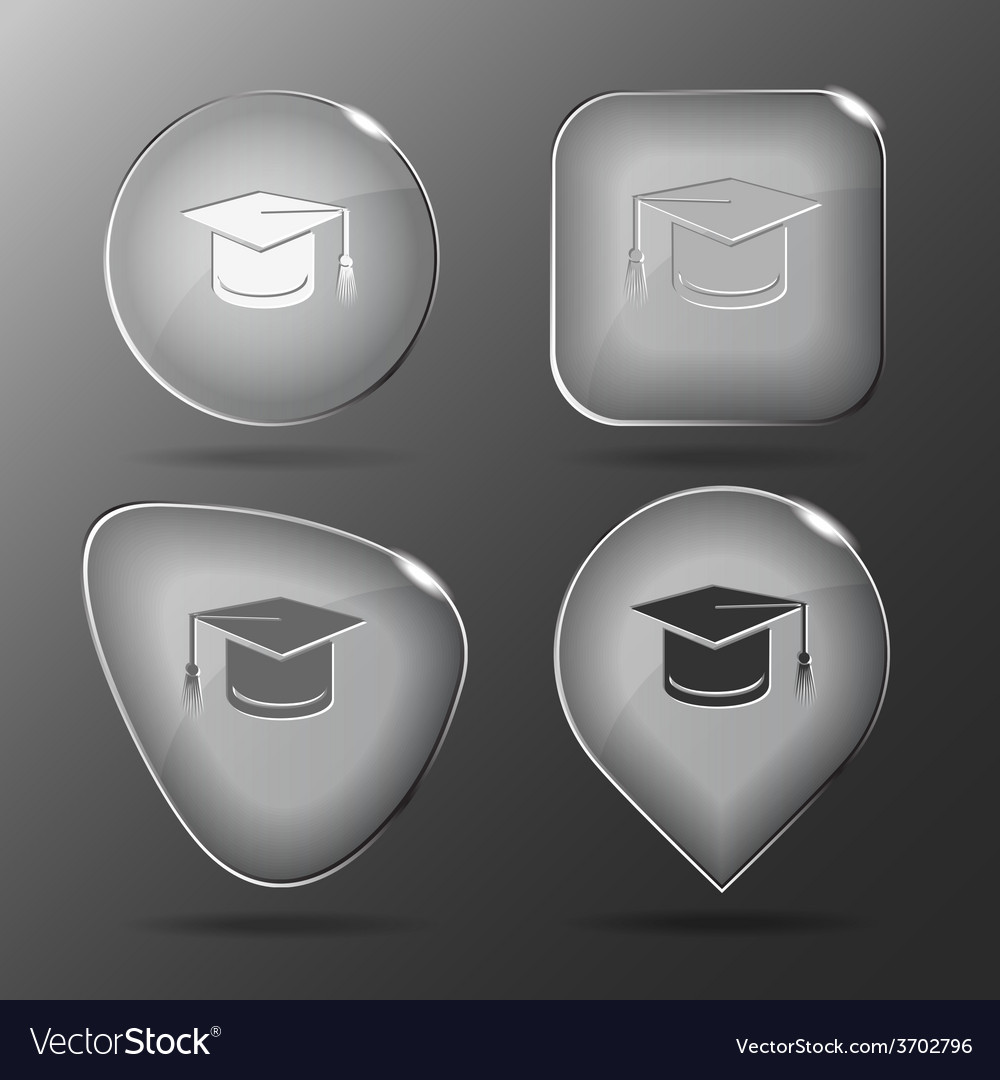 Graduation cap glass buttons vector | Price: 1 Credit (USD $1)