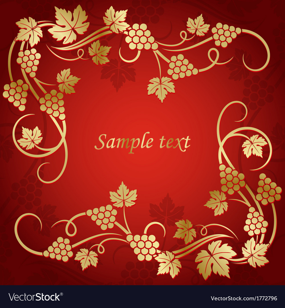 Grape vine background vector | Price: 1 Credit (USD $1)