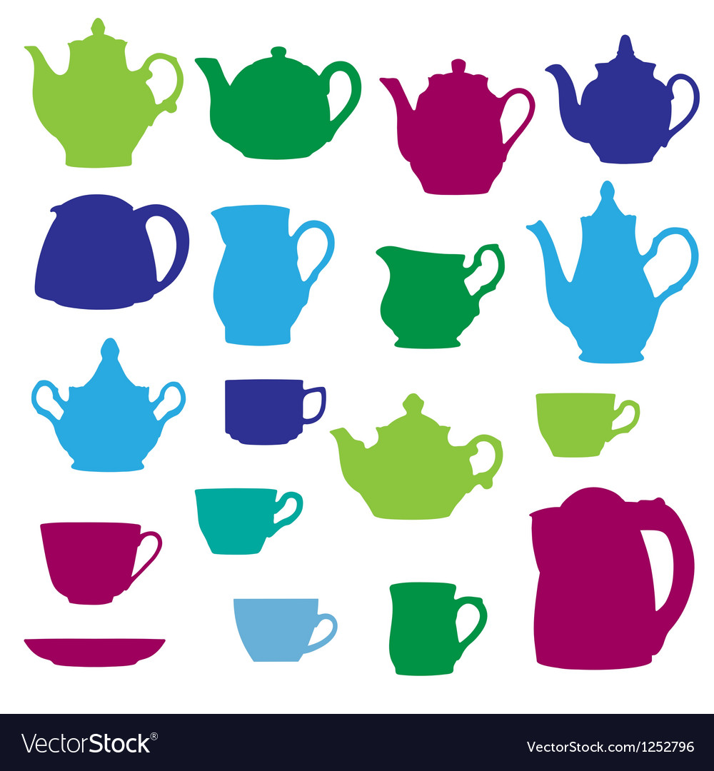 Kitchen wares objects silhouettes set vector   Price: 1 Credit (USD $1)