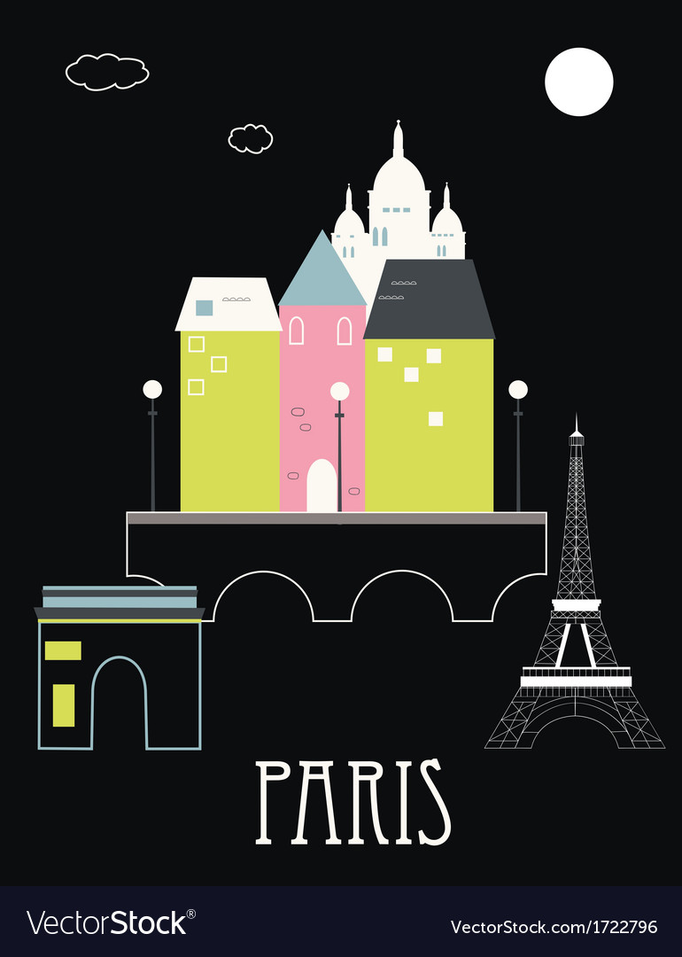 Paris france vector | Price: 1 Credit (USD $1)