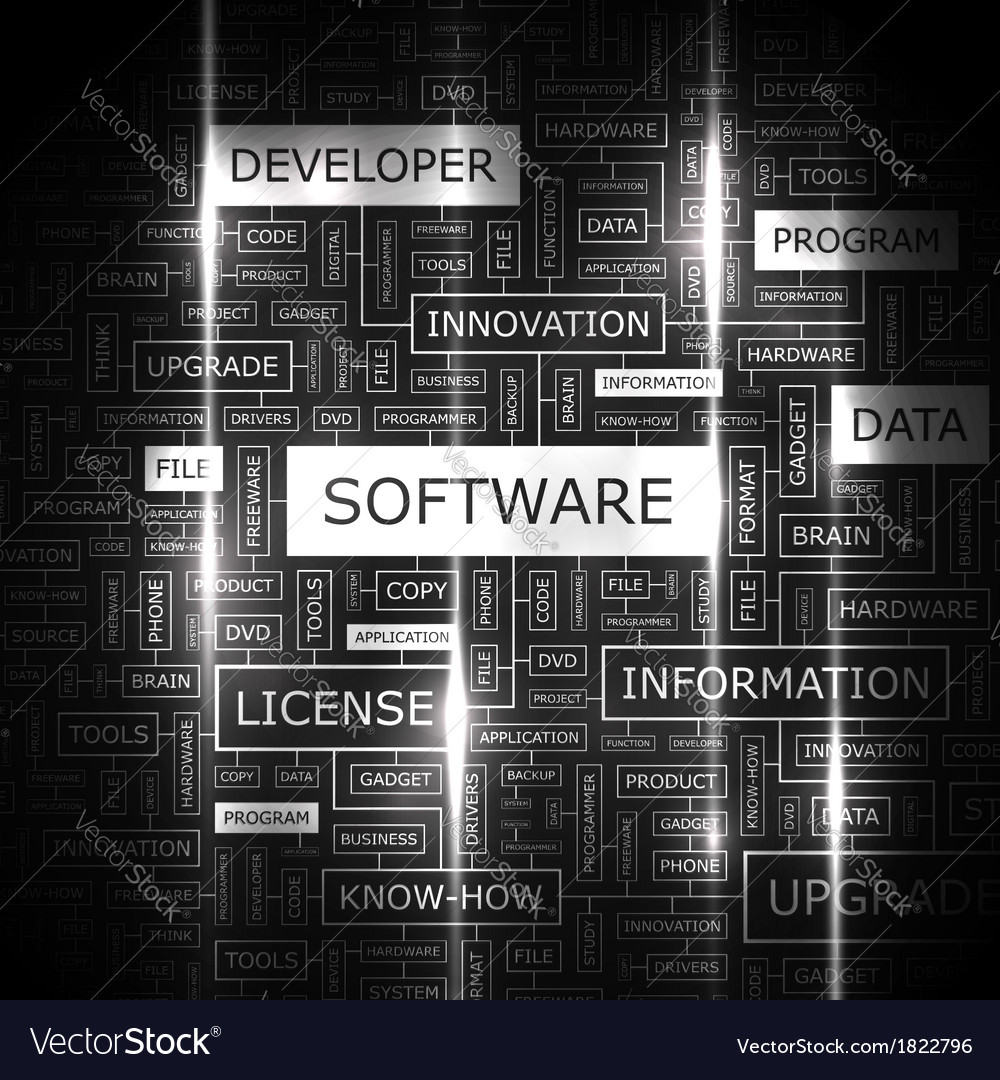Software vector | Price: 1 Credit (USD $1)