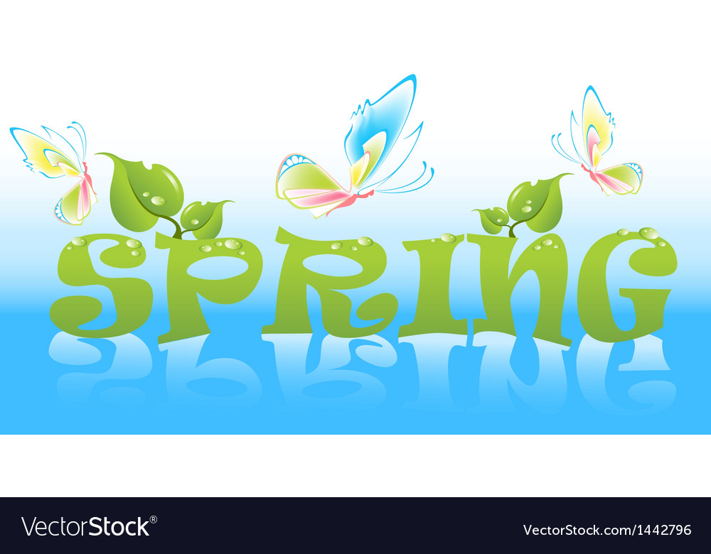 Spring vector | Price: 1 Credit (USD $1)