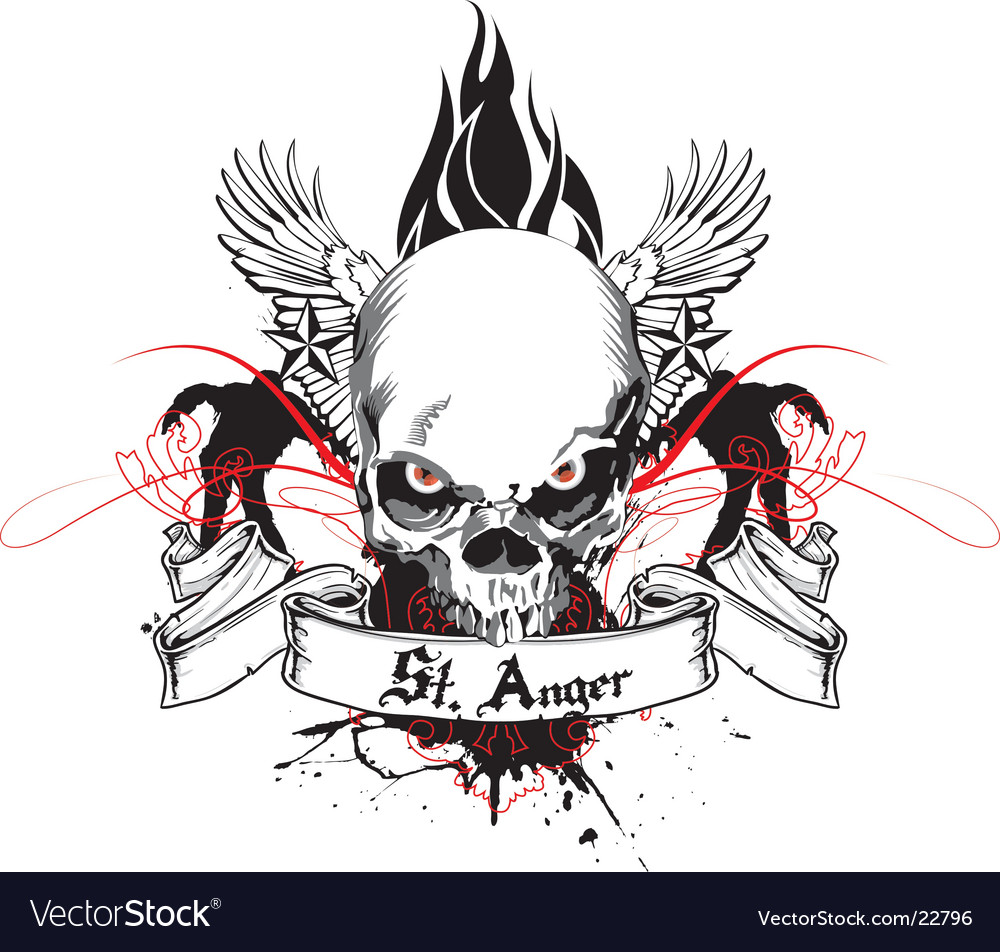 St anger skull vector | Price: 1 Credit (USD $1)