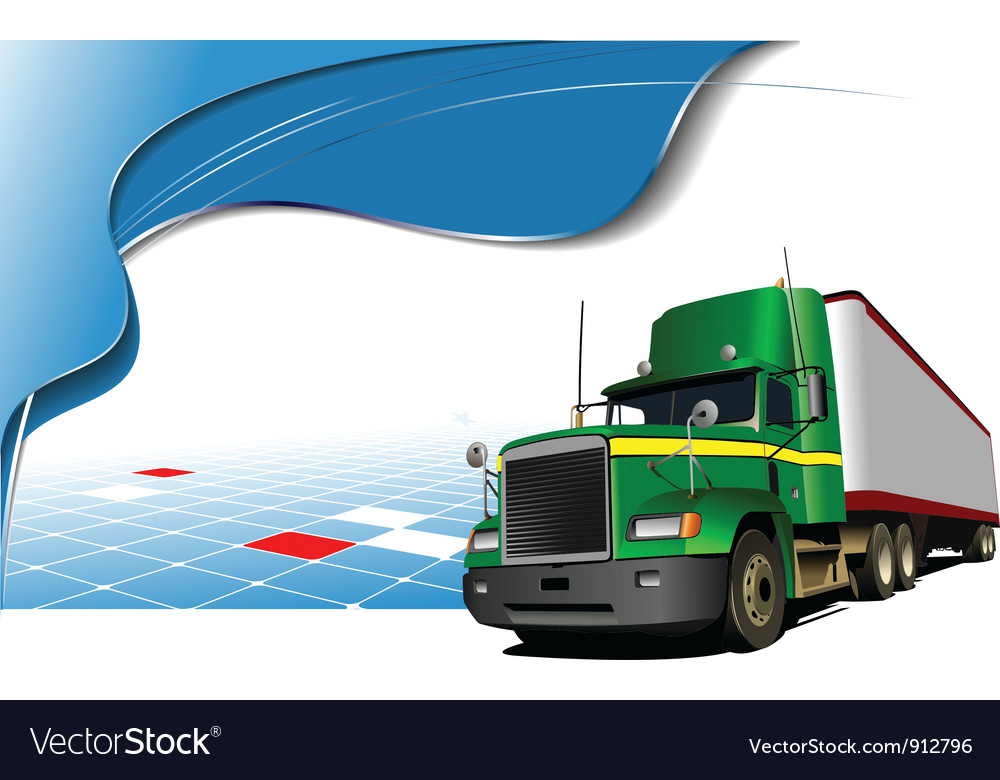 Truck poster vector | Price: 1 Credit (USD $1)