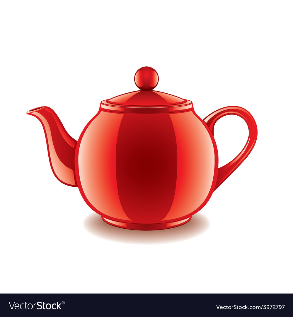 Classic kettle isolated vector   Price: 1 Credit (USD $1)