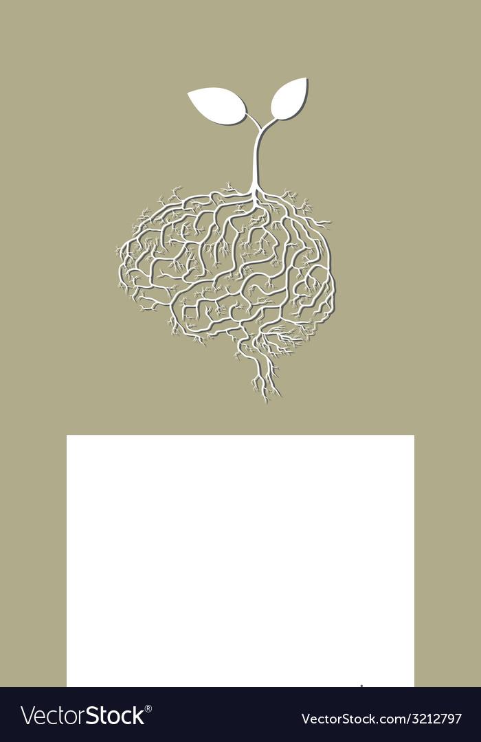 Concept of brain seedling vector | Price: 1 Credit (USD $1)