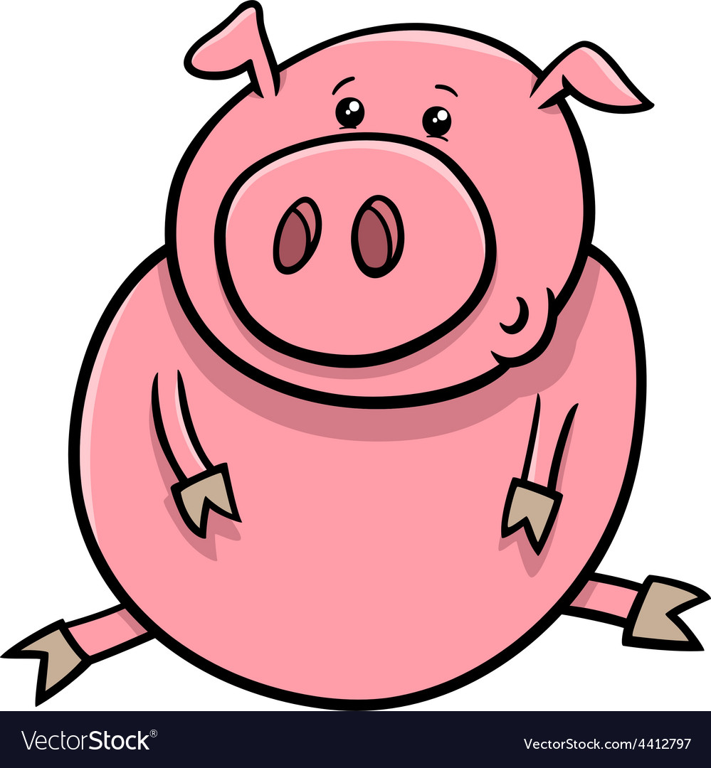 Little pig or piglet cartoon vector | Price: 1 Credit (USD $1)