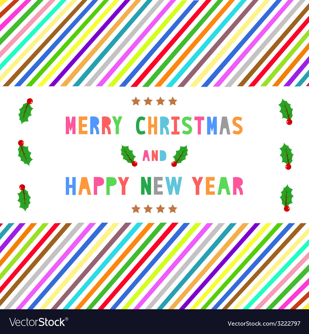 Mc and hny greeting card15 vector | Price: 1 Credit (USD $1)