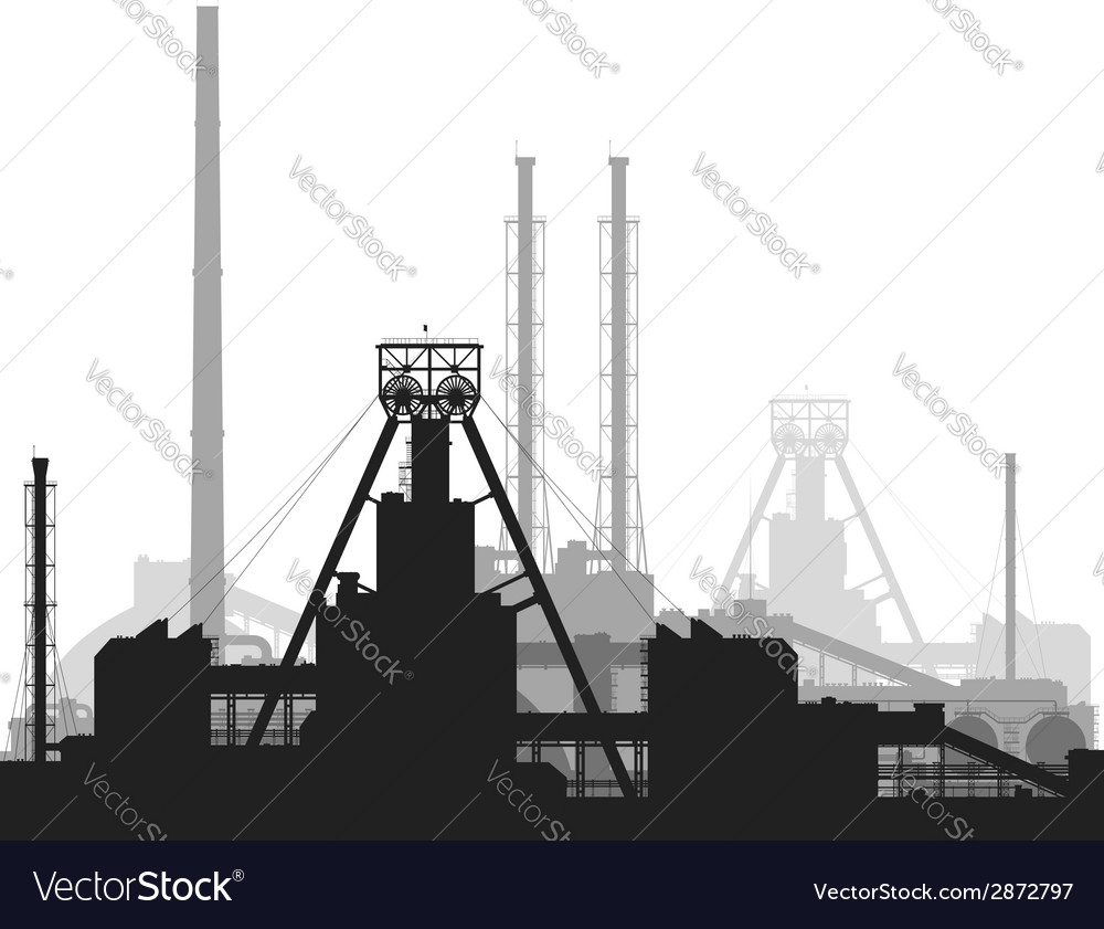 Mineral fertilizers plant isolated on white vector | Price: 1 Credit (USD $1)