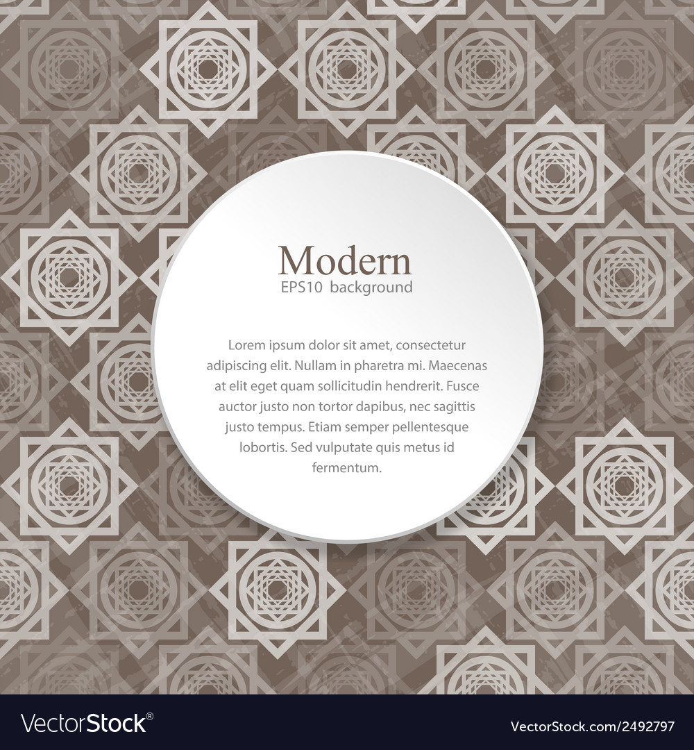 Modern background with interlocking elements vector | Price: 1 Credit (USD $1)