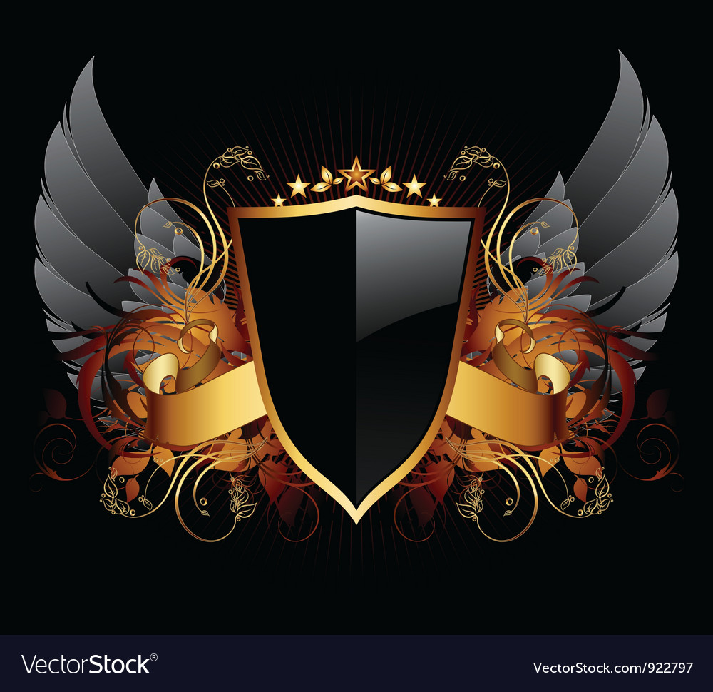 Ornamental shield vector | Price: 1 Credit (USD $1)