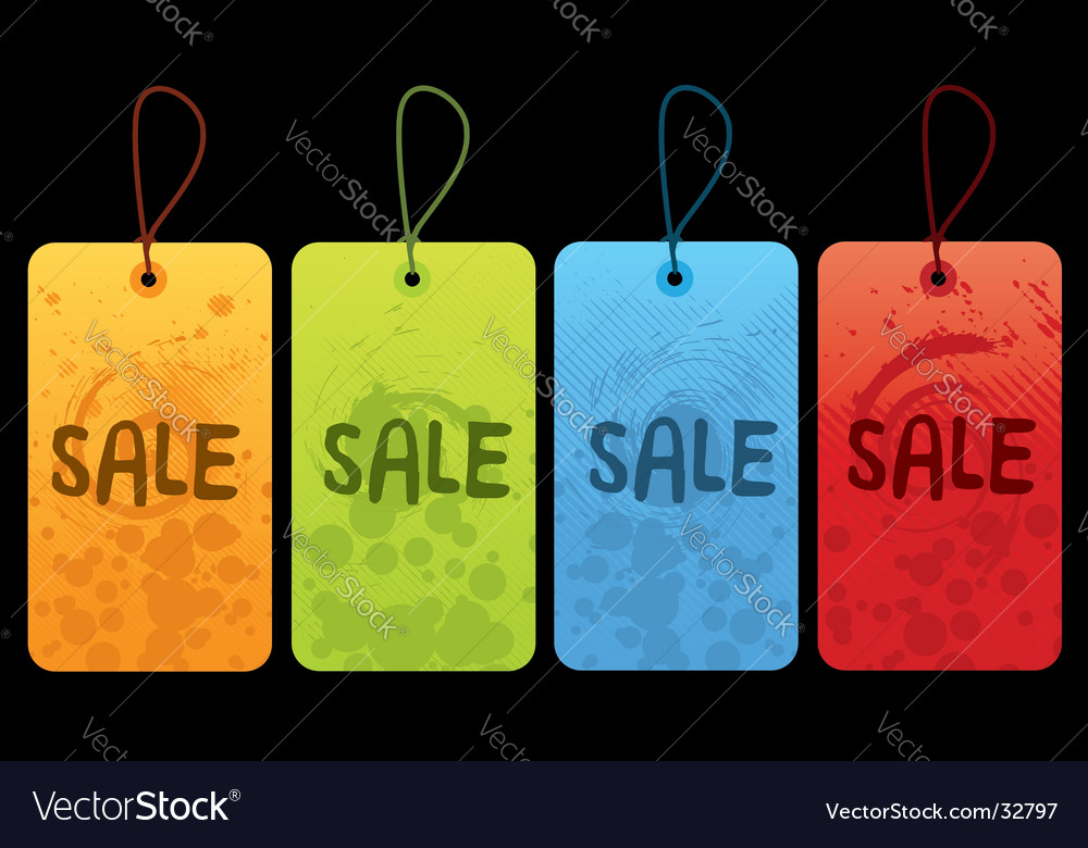 Sale tags vector | Price:  Credit (USD $)