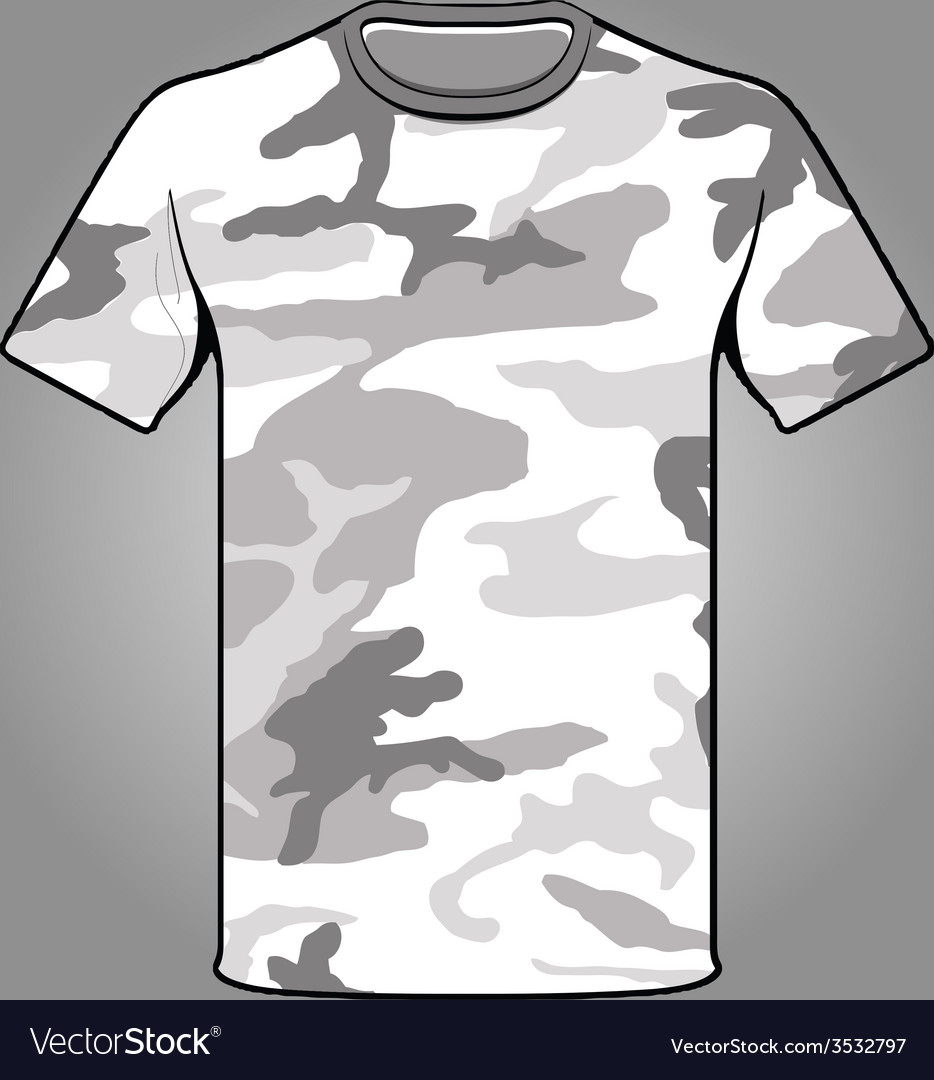 Snow camo army tshirt vector | Price: 1 Credit (USD $1)