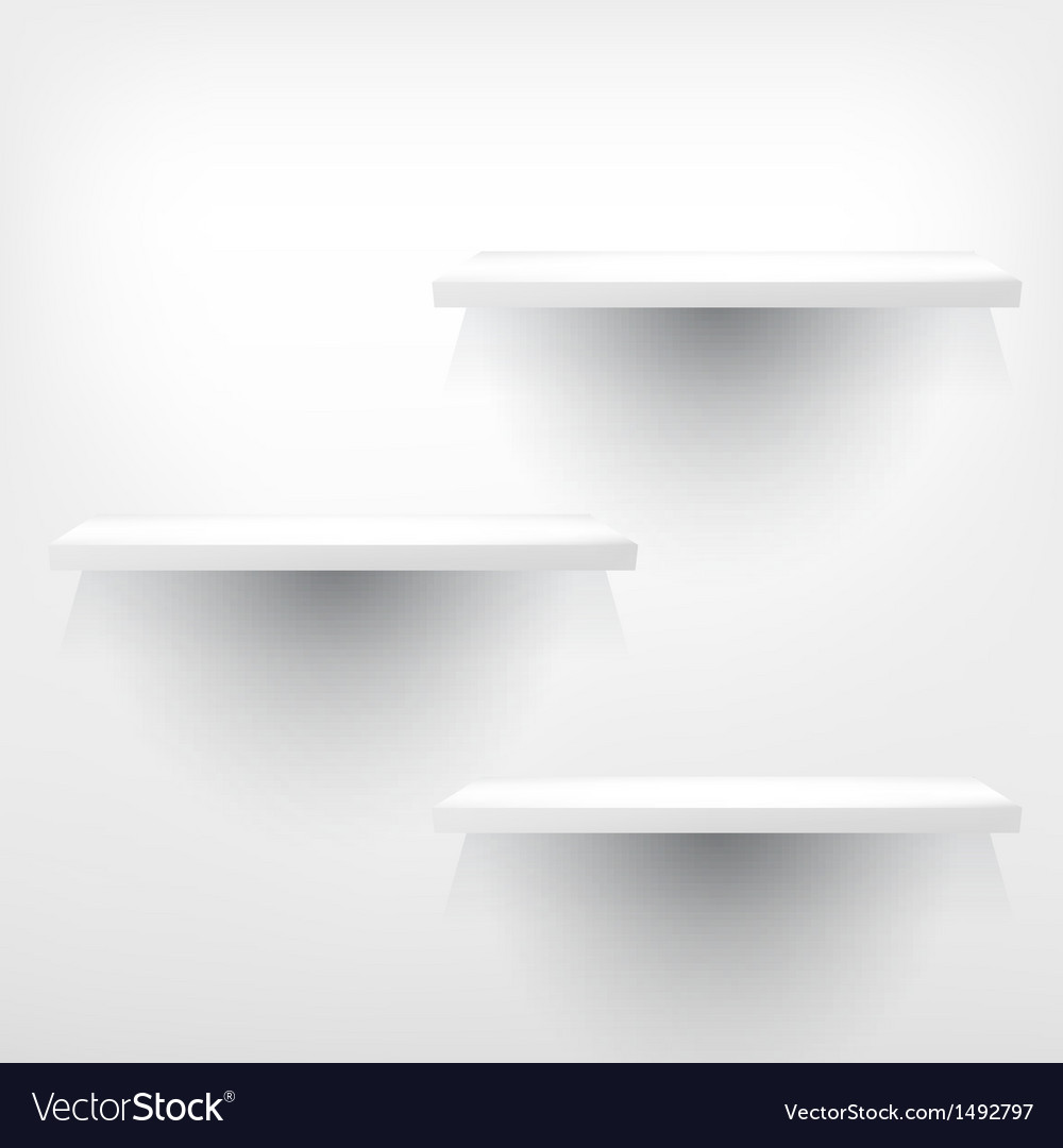Three empty shelves vector | Price: 1 Credit (USD $1)