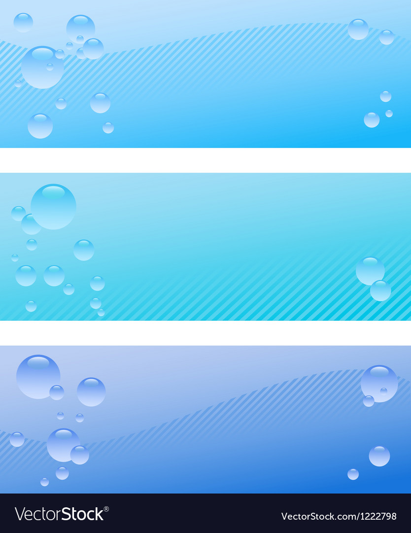 Air bubble banner set vector | Price: 1 Credit (USD $1)