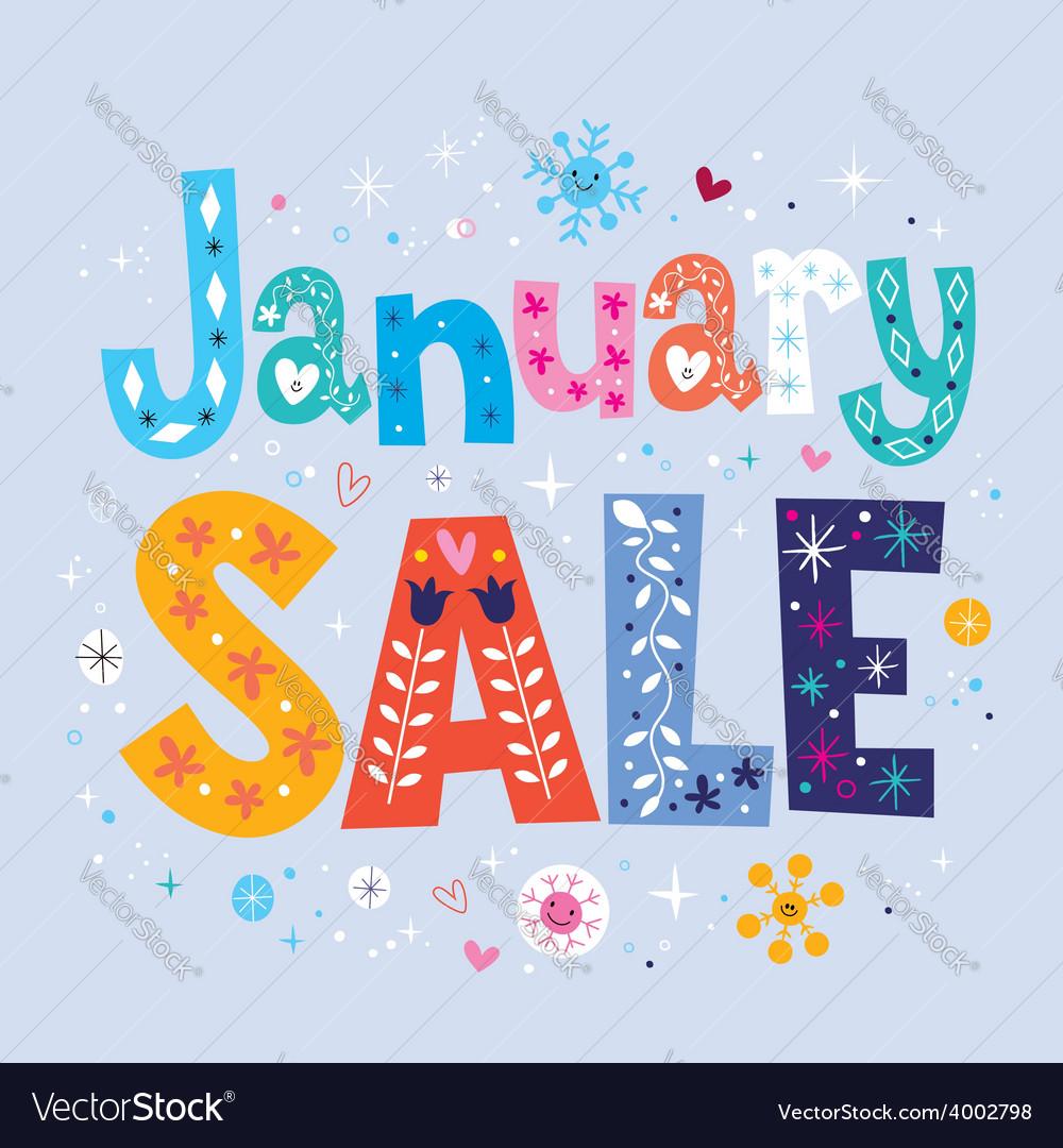 January sale vector | Price: 1 Credit (USD $1)