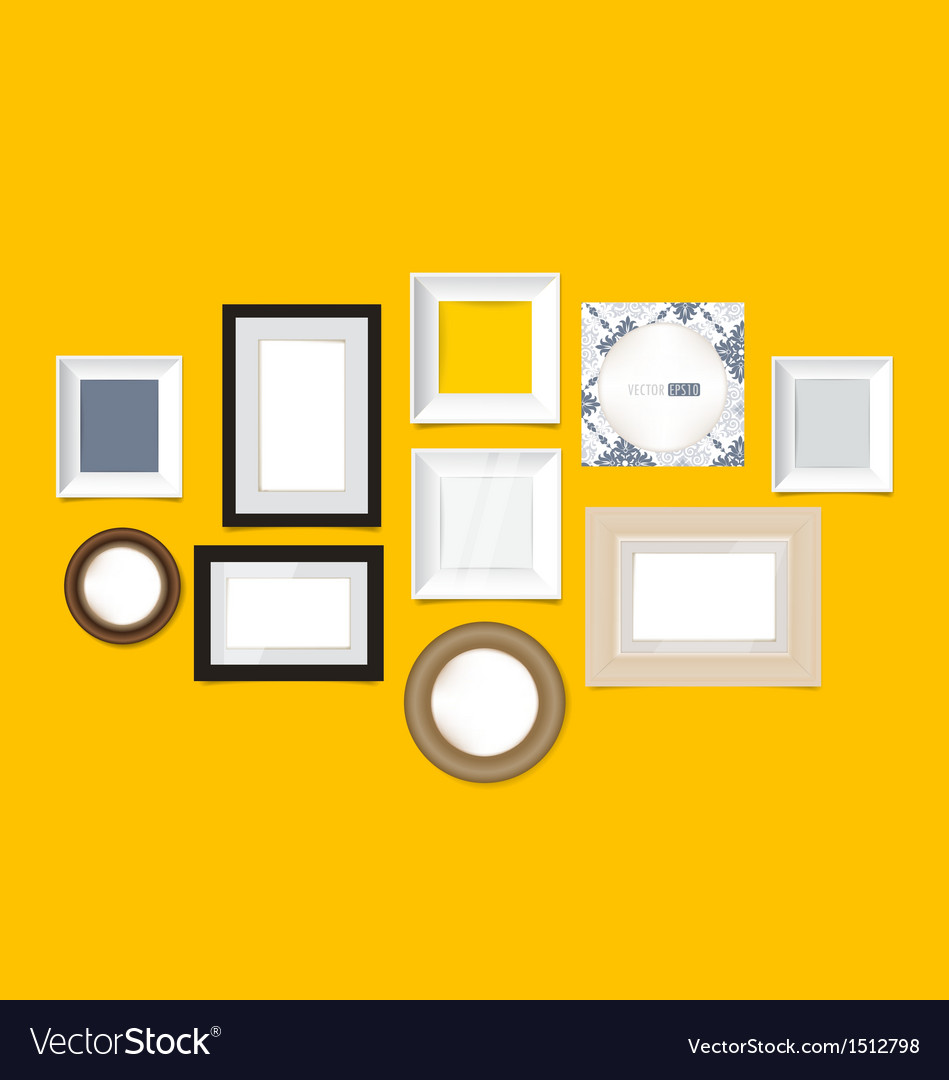 Modern picture frames vector | Price: 1 Credit (USD $1)