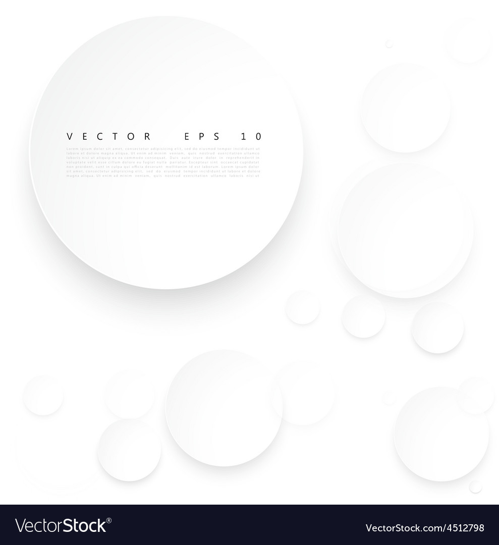 Paper circle with drop shadows vector | Price: 1 Credit (USD $1)