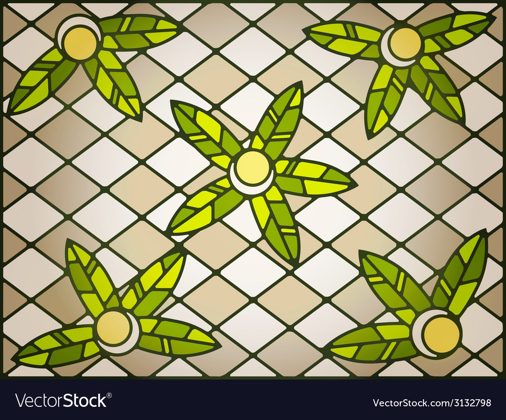 Stained glass background vector | Price: 1 Credit (USD $1)