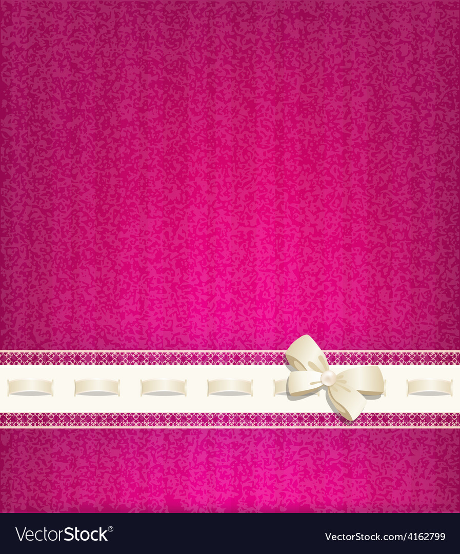 Background with lace satin ribbon and lacing vector | Price: 3 Credit (USD $3)