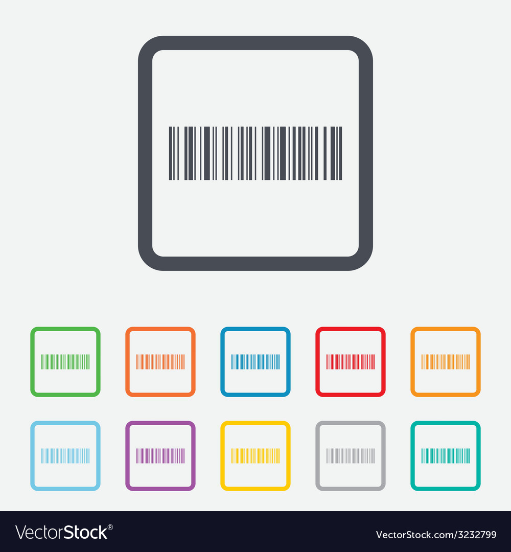 Bar code sign icon scan code symbol vector | Price: 1 Credit (USD $1)