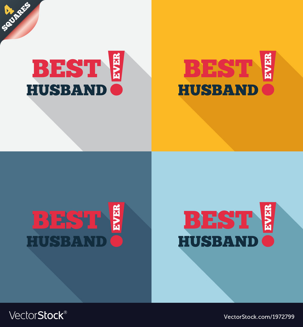 Best husband ever sign icon award symbol vector   Price: 1 Credit (USD $1)