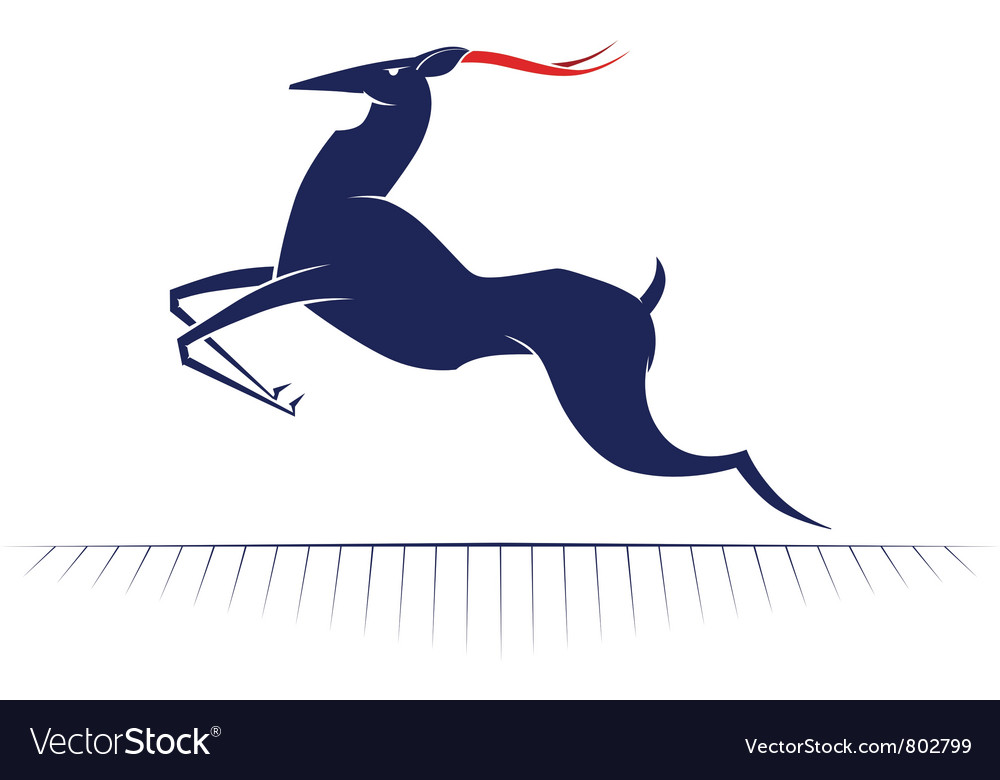 Cartoon deer run vector | Price: 1 Credit (USD $1)