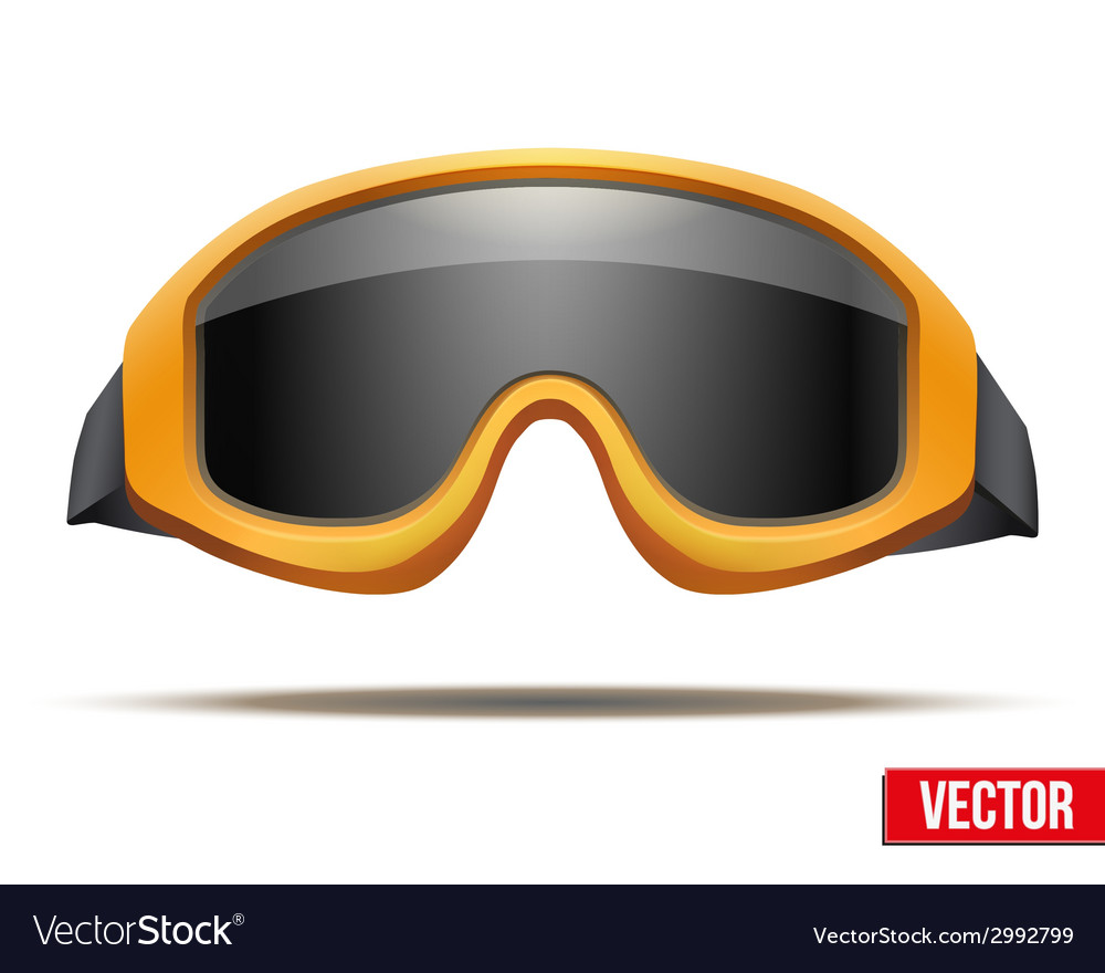 Classic orange snowboard ski goggles with black vector | Price: 1 Credit (USD $1)
