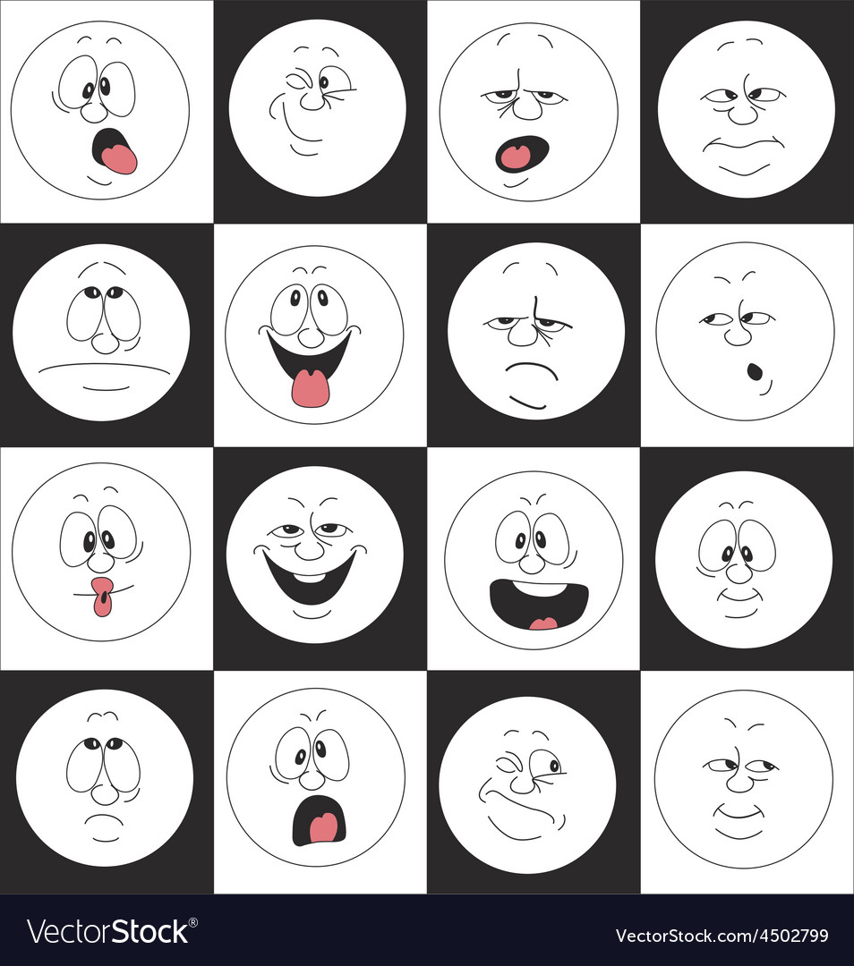Emotion smiles set in box 002 vector | Price: 1 Credit (USD $1)