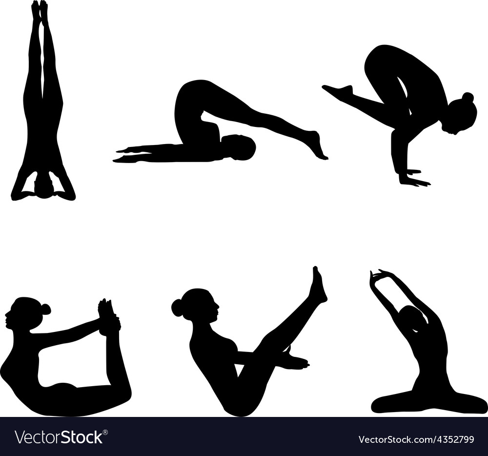 Girl makes yoga exercise vector | Price: 1 Credit (USD $1)