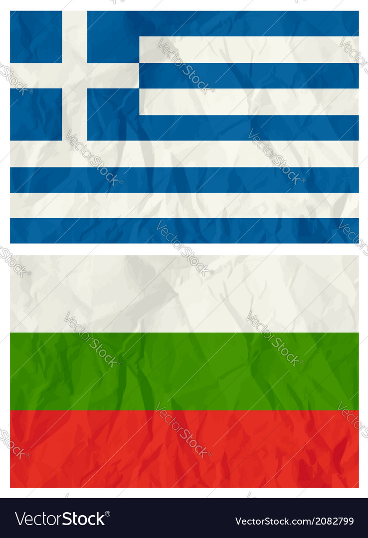Greece and bulgaria flags vector | Price: 1 Credit (USD $1)