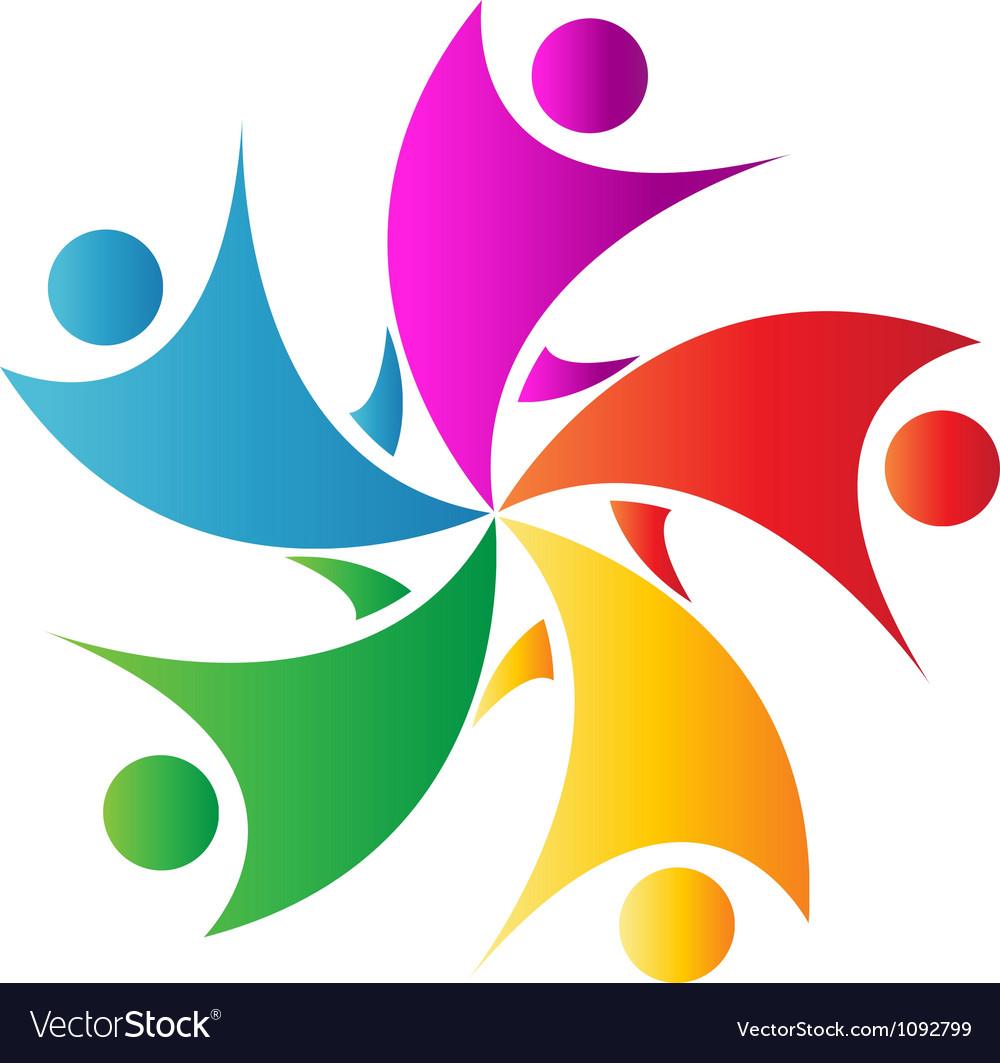 Happy teamwork logo vector   Price: 1 Credit (USD $1)