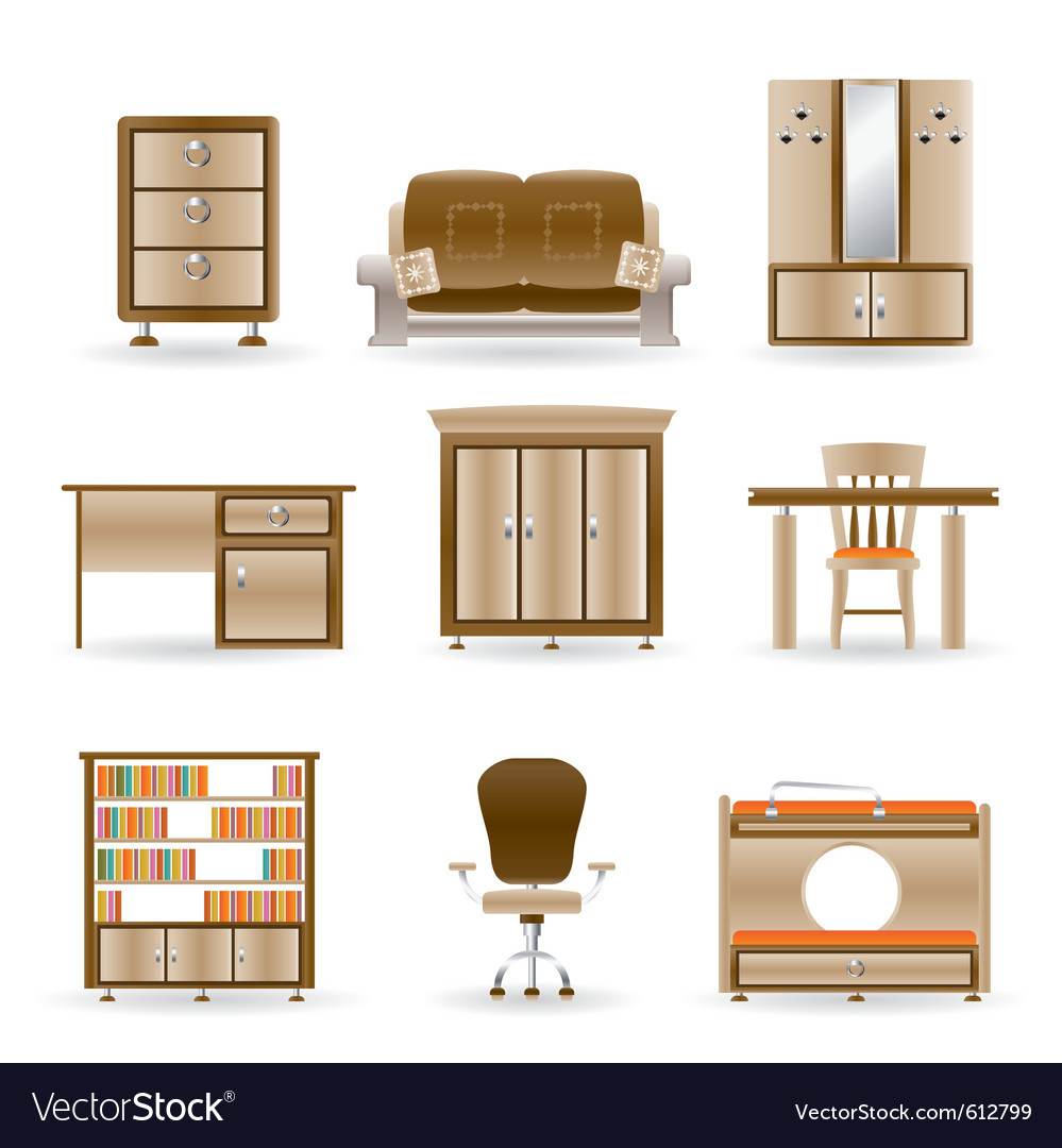 Home and office furniture vector | Price: 3 Credit (USD $3)