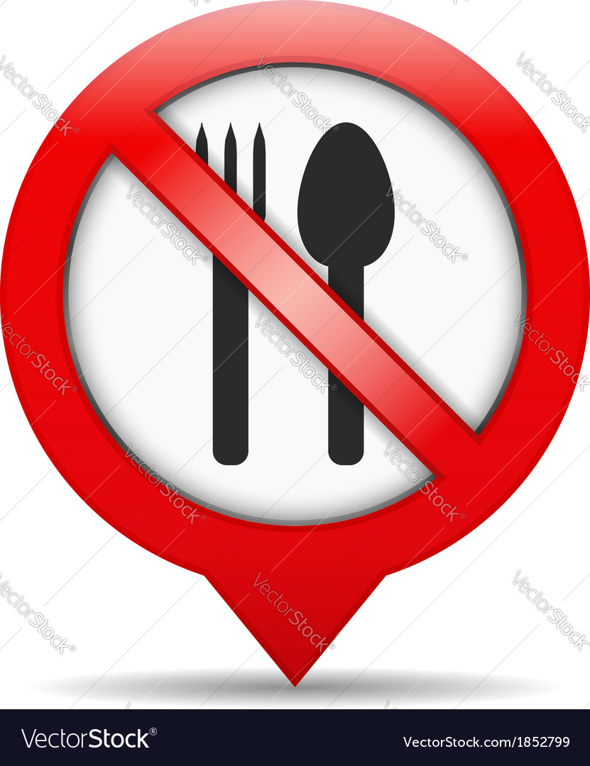 No food sign vector | Price: 1 Credit (USD $1)