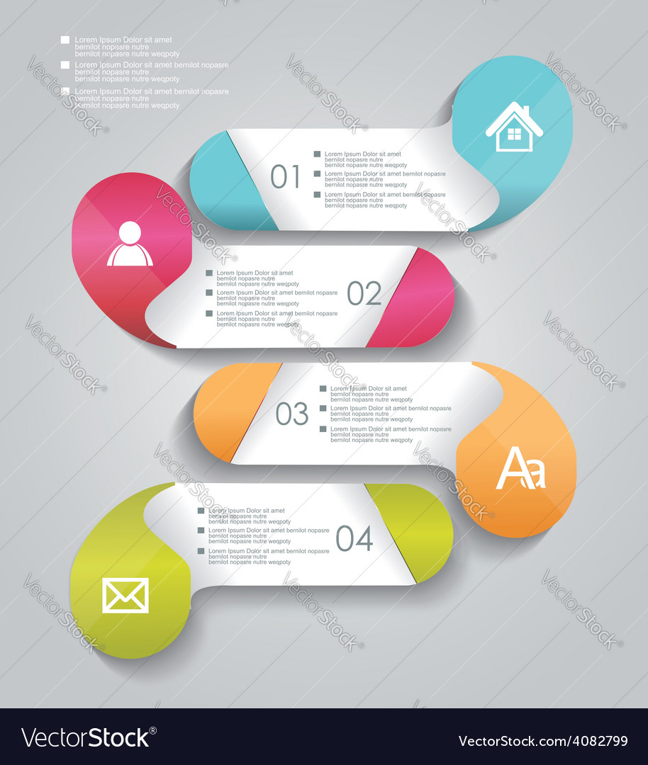 Progress banners with colorful tags vector | Price: 1 Credit (USD $1)