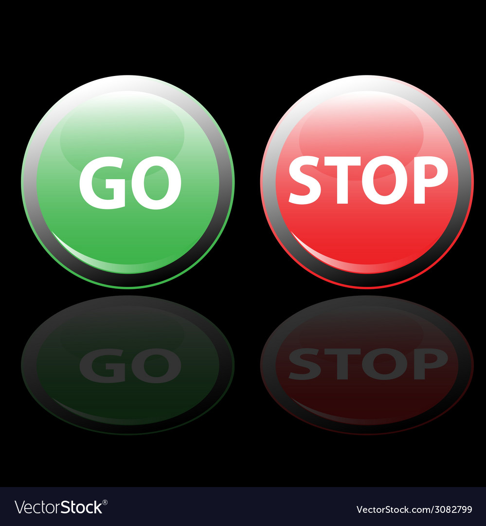Stop and go button vector | Price: 1 Credit (USD $1)