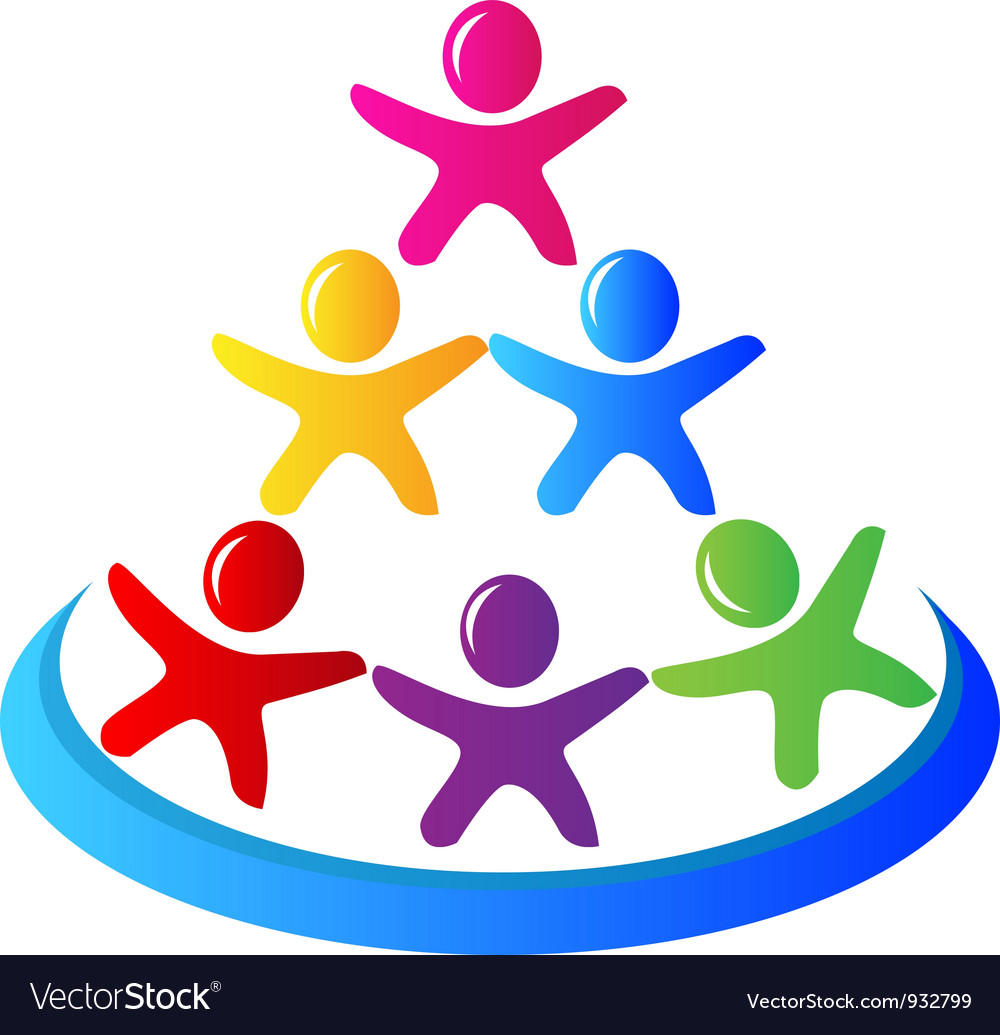 Teamwork pyramid people logo vector | Price: 1 Credit (USD $1)