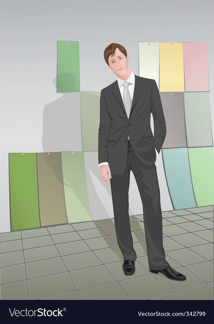 Young businessman vector | Price: 3 Credit (USD $3)